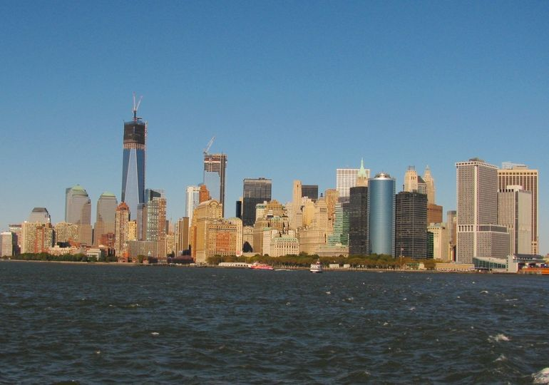 View of NYC Harbor Hop on-Hop off tour in Oct 2012 - New York City
