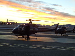 Took this picture while the sun was coming up and we were waiting to take off. , Linda I - February 2014