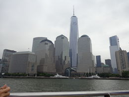 The New World Trade Center from our Water Taxi ride on the Hudson River. What a grand view! , gmchauvin - September 2013