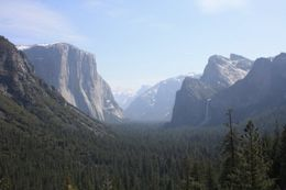 Scenic view of Yosemite valley from a place that our guide took us to for a Photo Op. , Ken O - May 2011