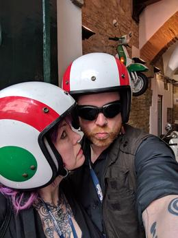 Pre-tour selfies with the ultra-stylish helmets provided! , Shayla M - June 2017