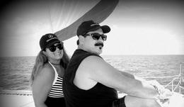 Deb and Ed Ehrich on catamaran snorkel trip off of Cancun , EDWARD E - September 2017