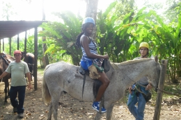 This is me getting ready to take a horse back ride to the site., Shaundrea M - September 2010