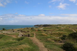 The pock marked landscape of Pointe du Hoc, following the bombardment and shelling of the US military, leading up to the D-Day invasion. , John C - September 2012