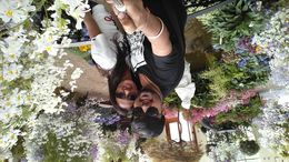 Me and my husband in the garden. This was a beautiful place.. , aaritu - November 2015