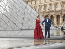 Many people come to the Louvre to take wedding photos. , Susan M - September 2015