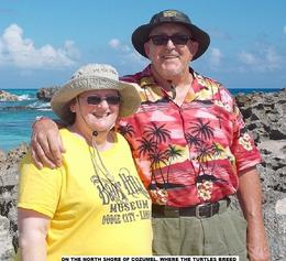 Me, David Davis, with my wife, Caroline, enjoying a half hour on the beaches, where the sea turtles come to breed. None here today! Wrong month of the year, but absolutely spectacular scenery. , david d - December 2014