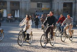 Although we cycled over cobbled streets the bikes were well sprung and it was never uncomfortable. - June 2010