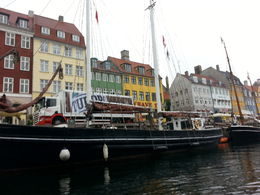 View of Nyhavn from canal boat - tour included with the card. , Mary G - October 2013