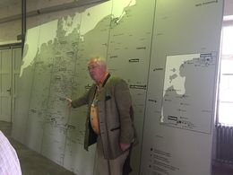 Our guide by the map detailing the concentration cams in the document center. , ERIKA L - September 2015