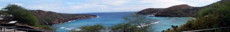Panoramic view of the bay - Oahu