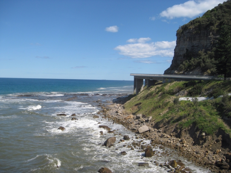 Sea Cliff Bridge over Sea -