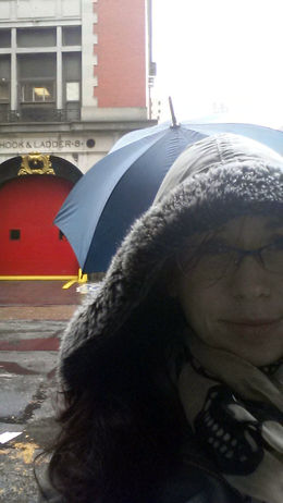 Selfie in front of the ghostbusters firehouse - December 2014