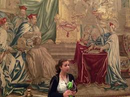 Our tour guide, Sara N, in the Tapestry Room at the Vatican Museum sharing wonderful information and detail on our small group tour. Rome, 9/14/16 Melissa Wheeler, NY, NY , Melissa W - September 2016
