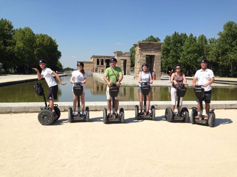 The six of us having a great time on our Segway Tour - Madrid