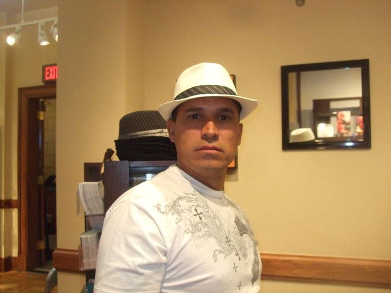 Trying on hats - Las Vegas
