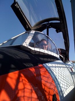 Mark in a plane! - December 2009