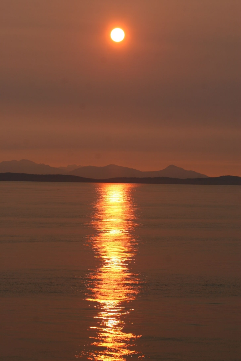 Vancouver Island Ferry Sunset - Vancouver