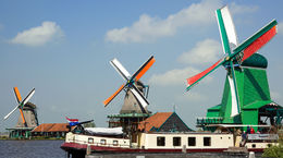 There are many windmills in Holland but few others are still operating and very few are as colorful. , Peter K - August 2015