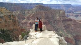 me and my husband taking pictures in grand canyon , Amei - June 2017