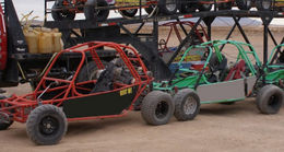 Buggies all ready to go!, Saké - January 2011