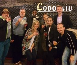 At the Cava tour with our new friends! , Christine S - April 2014