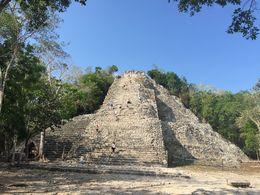 Coba main pyramid , Vj M - June 2016