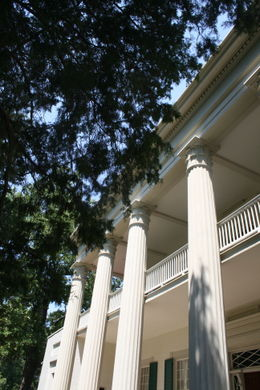 The front entrance to the Hermitage, Andrew Jackson's home , Rita B - August 2011