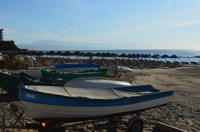 La Carihuela Beach with Sierra Nevada in background - Malaga