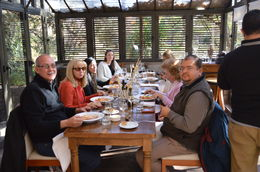 This was the lunch part of the tour at a winery (Familia Zuccardi) where they pair each course with their recommended wine. The meal was excellent. We were at the lunch table with the other random..., Juan - July 2014