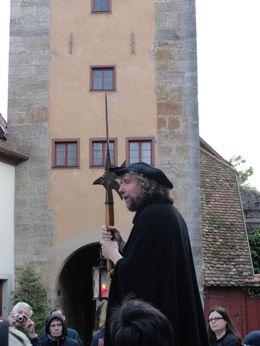 He was captivating and very entertaining. Great history lesson on Rothenburg. Do not miss this one! , Judy & Mike - July 2012