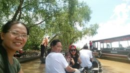 Paddle boating along a river canal - Cai Be Floating Market Tour , MARIA VICTORIA G - November 2015