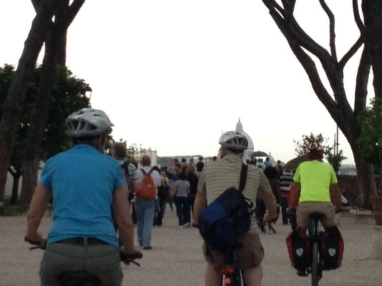 Riding our bikes - Rome