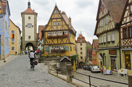 The most famous area of Rothenburg. The town is so beautiful! It's like something out of a fairy tale! , Amanda S - July 2014