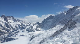 Jungfraujoch from the top , Yibin S - May 2014