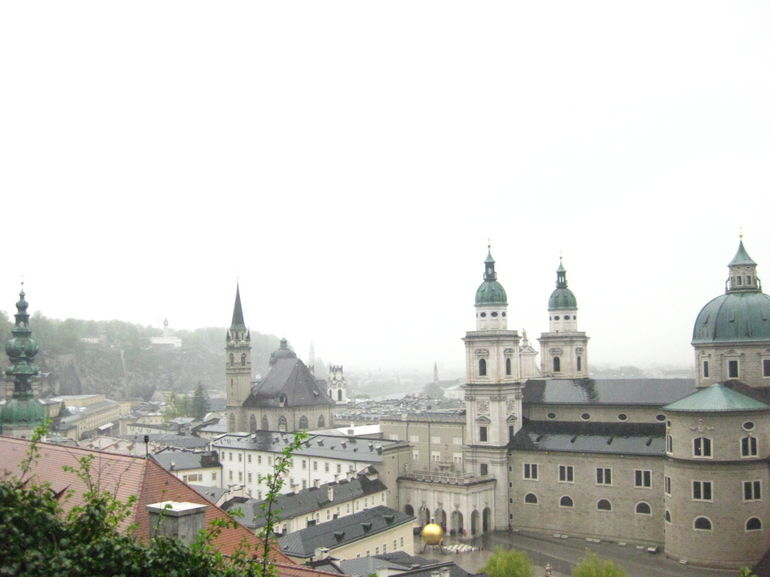 The view of Salzburg: walking halfway up to the castle. - Vienna