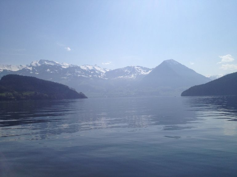 View from the boat on the way to Luzern - Zurich