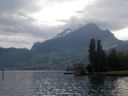 View of Mt. Pilatus from the boat on Lake Lucerne , JOHN M C - September 2016