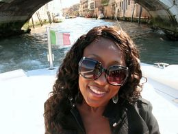 Floating under one of the 100 or so bridges in Venice , Bermudajac - July 2013