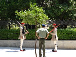 Changing of the guard near the National Garden , James M - September 2014