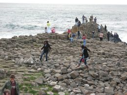 The Giant's Causeway with people climbing all over it. - September 2007