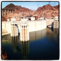 Lake Mead side of the Dam , david h - July 2013