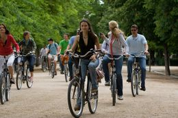 We cycled through parks and tree lined boulevards as well as the center of the city. - June 2010
