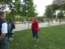 Stephanie is telling about the origin of the Eiffel Tower. , Robbie M - June 2014
