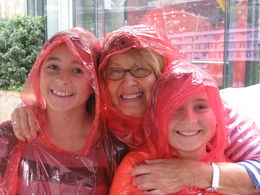 MA grand-mom and FL grandchildren happy to wait in the rain to board the Duck. , Gudrun B - August 2014