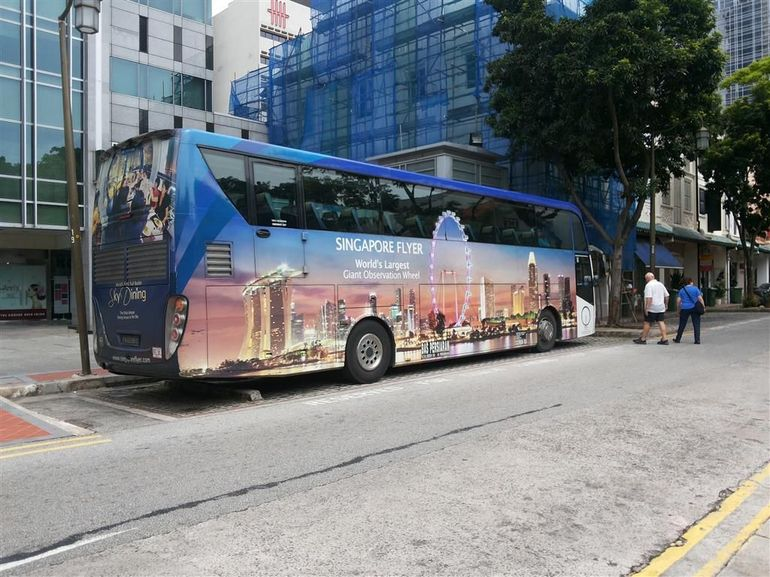 The coach used for part of the tour - Singapore