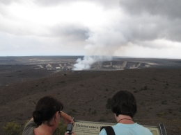 Big Island day trip: The crater from about as close as you can now get., Kevin P - August 2010