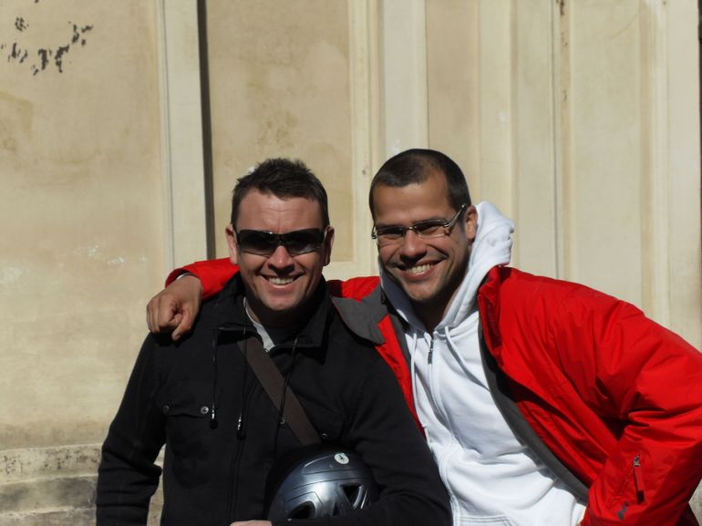With the tour guide (on the right) - Rome