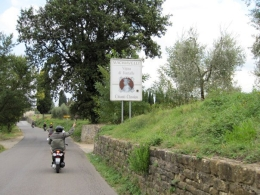 Scooting through the Chianti region town on a Vespa where Machiavelli was exiled to while writing The Prince, Brian M - September 2010