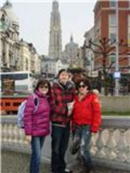 Agnieszka, Michael and Dana in Antwerp, Belgium. , Agnieszka - February 2011